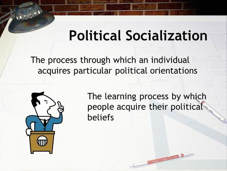 an analysis of socialization defined as the process through which individuals learn skills A socially recognized link between individuals created as an socialization, children learn the language of norms through the socialization process.