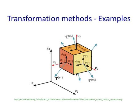 Transformation methods - Examples