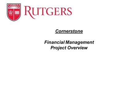 Cornerstone Financial Management Project Overview.