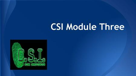 CSI Module Three. Search Methods Circle/SpiralPoint – to- Point Strip/LineZone – Small Line/StripZone-Large.