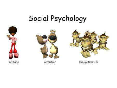 Social Psychology AttitudeAttractionGroup Behavior.