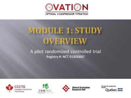 A pilot randomized controlled trial Registry #: NCT 01800887.