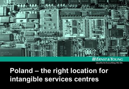 Poland – the right location for intangible services centres.
