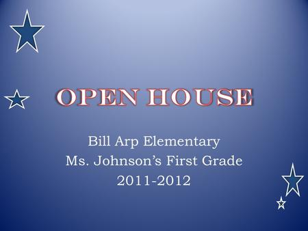 Bill Arp Elementary Ms. Johnson's First Grade 2011-2012.