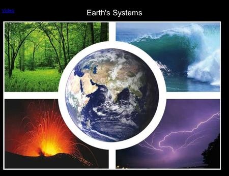 Earth's Systems Video. The Earth is made up of four main interacting systems, which are sometimes called spheres Atmosphere Geosphere Hydrosphere Biosphere.