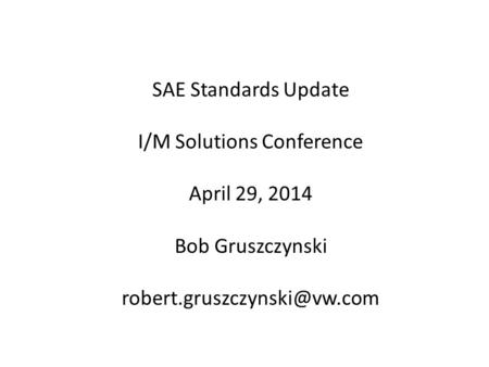 I/M Solutions Conference