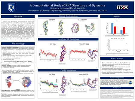 A Computational Study of RNA Structure and Dynamics Rhiannon Jacobs and Harish Vashisth Department of Chemical Engineering, University of New Hampshire,