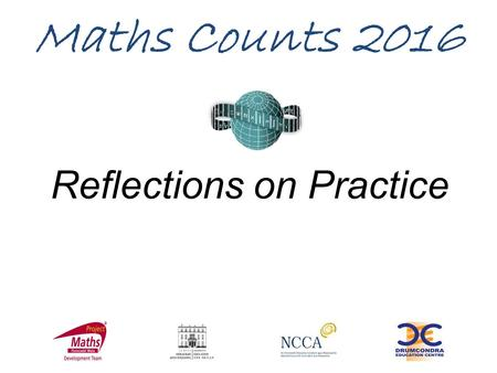 Reflections on Practice Maths Counts 2016. Over to you Representing simultaneous equations graphically.