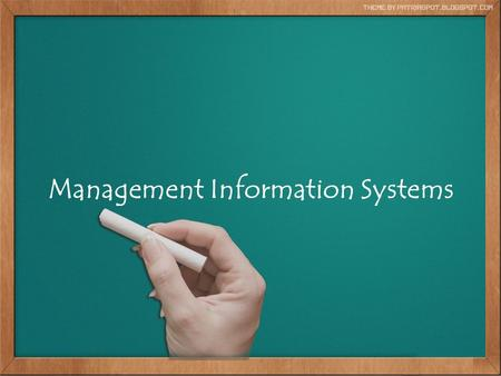 Management Information Systems Ozi Herlambang A138672.