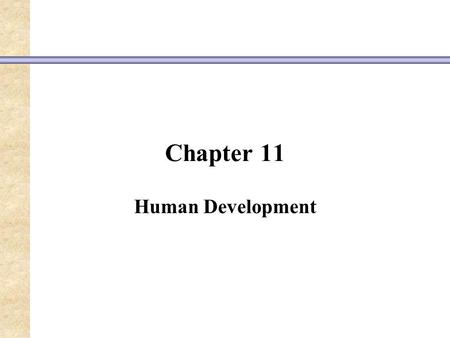 Chapter 11 Human Development. physical cognitivesocial.