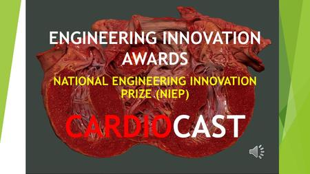 ENGINEERING INNOVATION AWARDS NATIONAL ENGINEERING INNOVATION PRIZE (NIEP) CARDIOCAST.