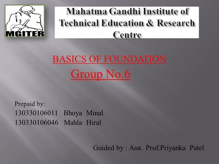 Mahatma Gandhi Institute of Technical Education & Research Centre
