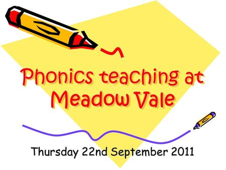 Phonics teaching at Meadow Vale Thursday 22nd September 2011.