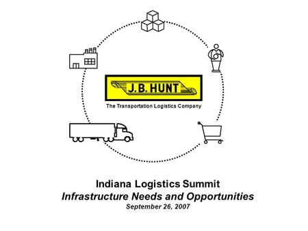 The Transportation Logistics Company Indiana Logistics Summit Infrastructure Needs and Opportunities September 26, 2007.