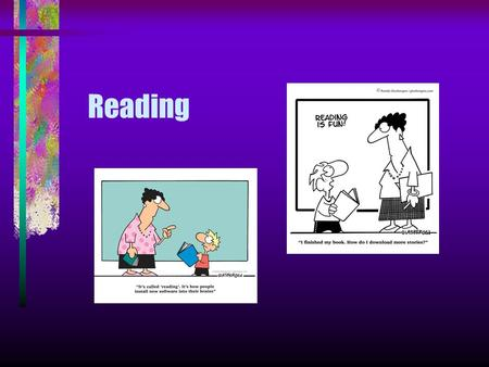 "Reading. Why is it important? "" Reading for pleasure is the single biggest factor in success later in life, outside of an education. Study after study."