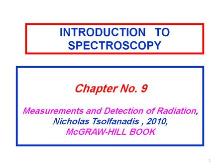 1. 2 3 4 5 6 7 8 9 10 11 12 13 14 15  A) Pulse Height Spectroscopy  Identify the equipment such as detector, electronics modules and NIM.