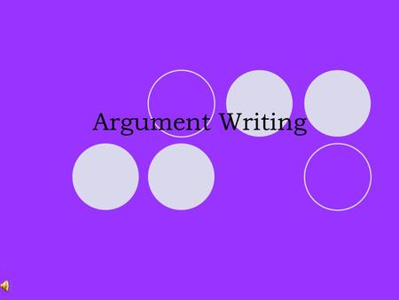 Argument Writing PART ONE: Introduction THE INTRODUCTION Consists of: oThe Hook oA claim.