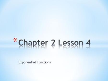 write an exponential function y ab x