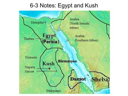 6-3 Notes: Egypt and Kush. The Middle Kingdom Following the collapse of the Old Kingdom, historians call the next period the Middle Kingdom (2100 – 1700.