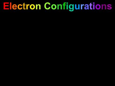 Electron Configurations. Electron Configurations Remember that electrons are waves.