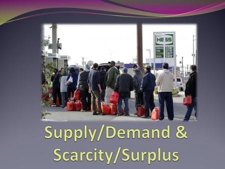 Supply Amount of goods and services producers are willing to make and sell.