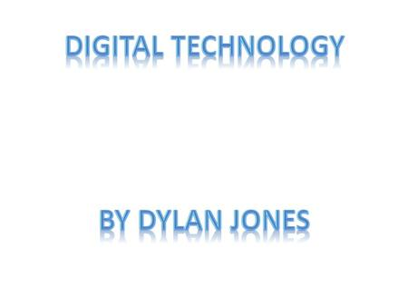 Digital Technology is the study and production of devices which uses electronic signals that was developed from nature to help people be organized, be.