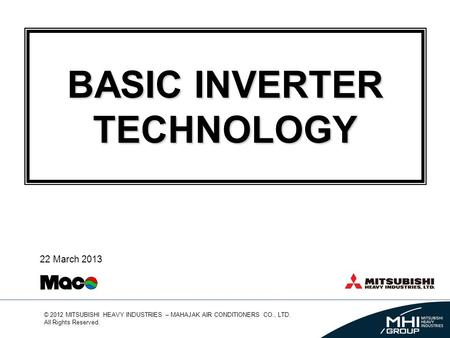 INVERTER TECHNOLOGY.