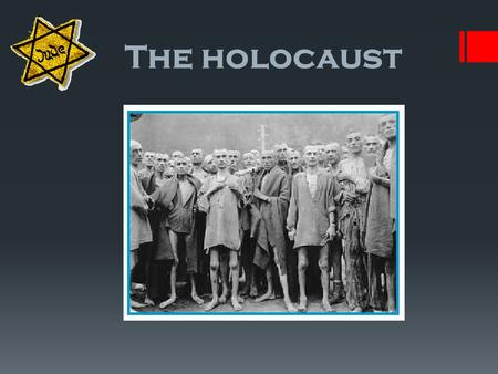 TITLE The holocaust. Time line 1933 1935 193819391940194119441945 Pre war World war 2 Hitler in power Nuremberg Laws Night of broken glass Auschwitz establish.