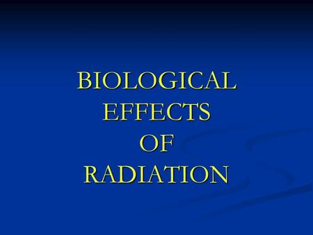 BIOLOGICAL EFFECTS OF RADIATION. WILLIAM CROOKES Image from: