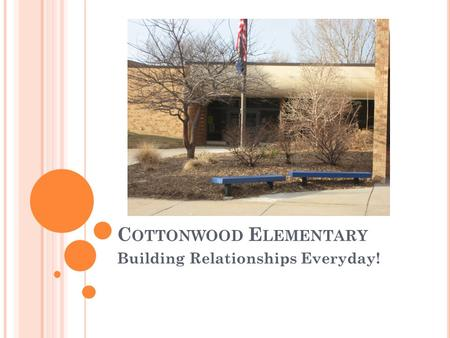 C OTTONWOOD E LEMENTARY Building Relationships Everyday!