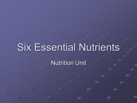Six Essential Nutrients Nutrition Unit. What are carbohydrates? Your body uses carbohydrates (carbs) to make glucose which is the fuel that gives you.