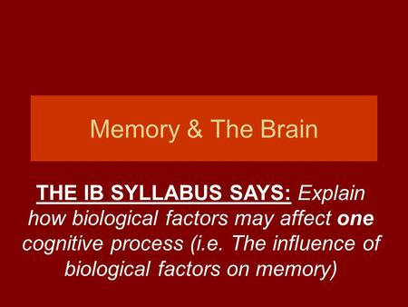 Working memory affects cognitive processing