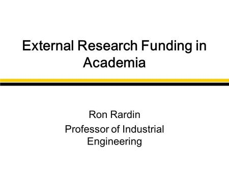Industrial engineering topics for thesis proposal