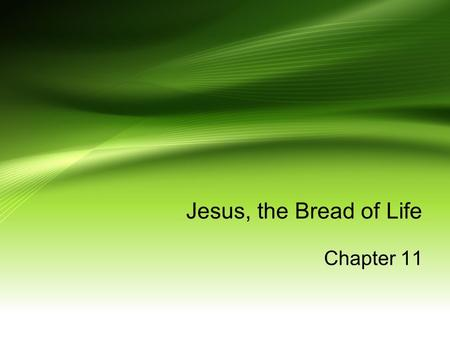 Jesus, the Bread of Life Chapter 11. The apostle, Peter, said Jesus was the Messiah, the Son of the living God. Jesus knew people would oppose and question.