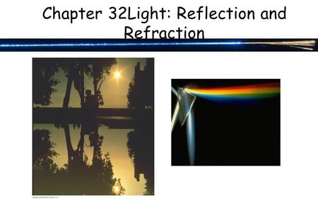 Chapter 32Light: Reflection and Refraction. 30-6 LC Oscillations with Resistance (LRC Circuit) Any real (nonsuperconducting) circuit will have resistance.