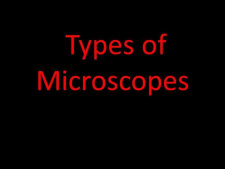 Types of Microscopes. Compound Light Microscope Scanning Electron Microscope Scan the surface of cells.