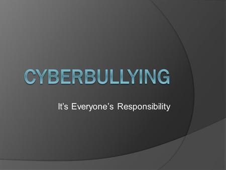 It's Everyone's Responsibility. Bullying Eyed in NJ Teen's Apparent Suicide: Sources NBC New York, March 31, 2012.