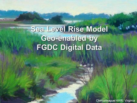 Sea Level Rise Model Geo-enabled by FGDC Digital Data Chincoteague NWR, Virginia.