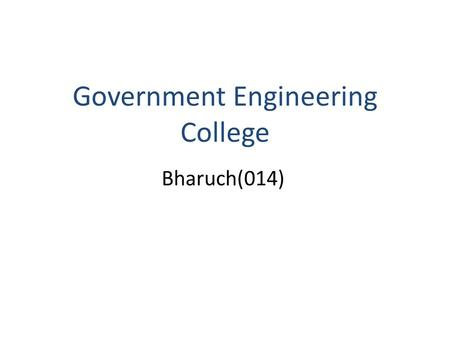 Government Engineering College Bharuch(014). Sub: Instrumentation And Process Control. Topic: Displacement float,Pneumatic balance and Magnetic level.