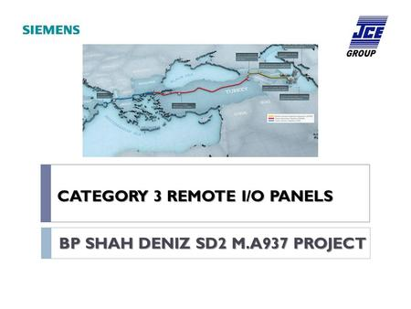 CATEGORY 3 REMOTE I/O PANELS BP SHAH DENIZ SD2 M.A937 PROJECT.
