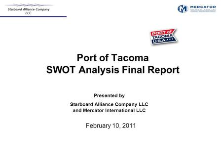 Port of Tacoma SWOT Analysis Final Report