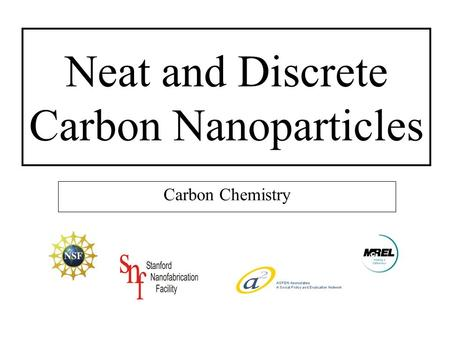 Neat and Discrete Carbon Nanoparticles Carbon Chemistry.