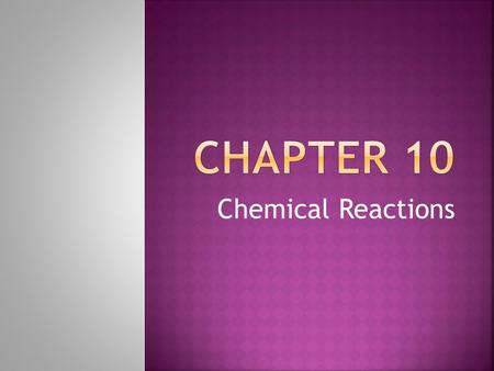 Chemical Reactions.  Chemical Reaction  Reactant  Product  Combustion Reaction  Decomposition Reaction  Single-replacement reaction  Double-replacement.