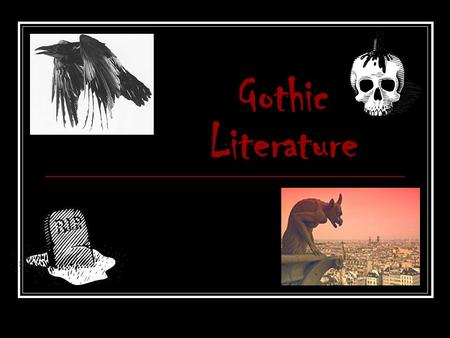 Gothic Literature. TONE: Tone is the author ' s attitude toward the writing (his characters, the situation) and the readers. Example tone words: Horror.