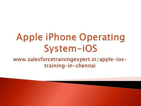 Www.salesforcetrainingexpert.in/apple-ios- training-in-chennai.
