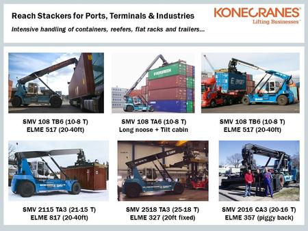 Reach Stackers for Ports, Terminals & Industries