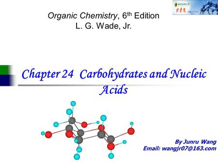 Chapter 24 Carbohydrates and Nucleic Acids