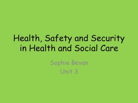 health and social care unit 26 p3 2018-9-20  unit 8 - psychological perspectives in health and social care is an optional 5 credit unit the aim of this unit is to be able to explain a range of perspectives within psychology you will be able to see the value of psychology and how it could be applied to benefit health and social care practice.