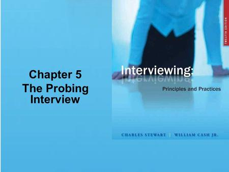 Chapter 5 The Probing Interview. Chapter Summary Preparing the Interview Selecting Interviewees and Interviewers Conducting the Interview Preparing the.