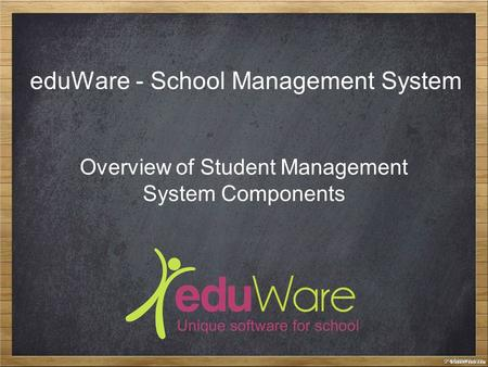 EduWare - School Management System Overview of Student Management System Components.